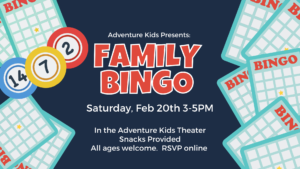 Family Bingo hosted by Adventure Kids